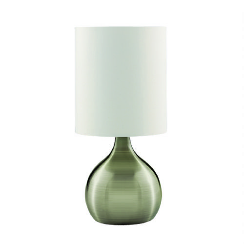 Touch Table Lamp, Antique Brass Base, White Drum Shade 3923Ab (Class 2 Double Insulated)